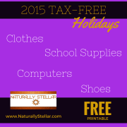 2015 Sales Tax Holidays - What You Can Expect