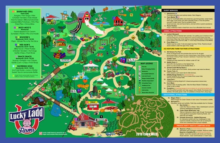 Lucky Ladd Farms Map and Corn Maze   Naturally Stellar