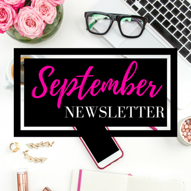 September blog newsletter | Naturally Stellar