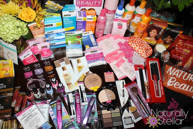 My blogger bag contents | Dollar General presents A Day Of Beauty 2016 | Naturally Stellar