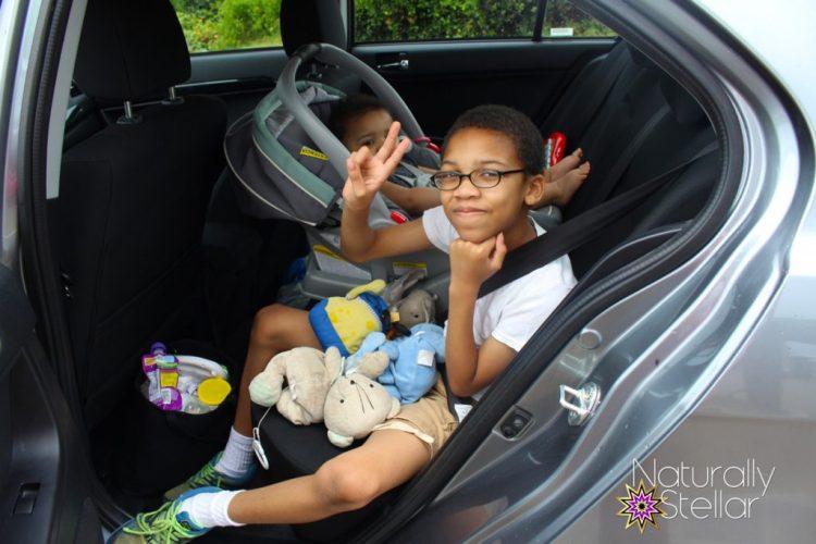 Mitsubishi Lancer 2016 - Kids had a lot of leg room | Naturally Stellar