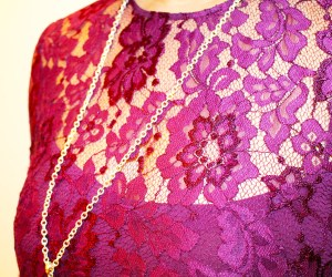 Cynthia Rowley Purple Lace Romper | Rent the Runway | Naturally Stellar