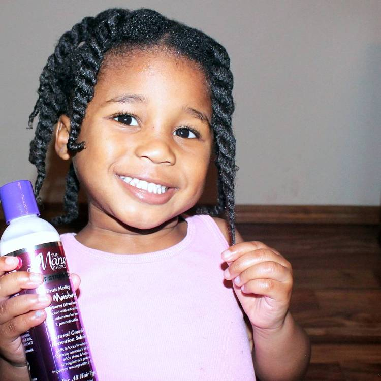 natural hair kids two strand twists | Naturally Stellar