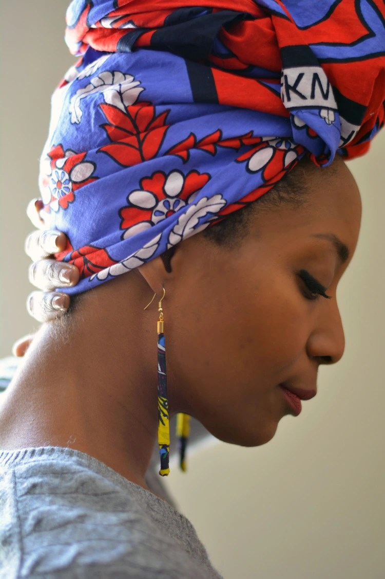 Mother's Day | DIY Ankara Fabric Earrings | Naturally Stellar