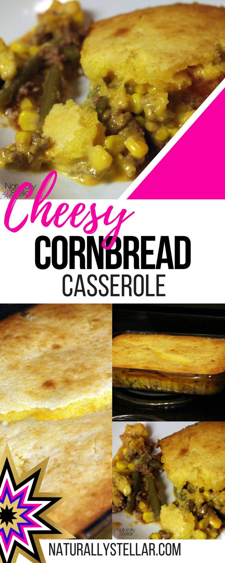 Cheesy Cornbread Casserole Recipe   Naturally Stellar