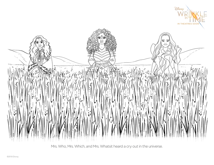 A Wrinkle In Time Free Coloring Pages | Naturally Stellar