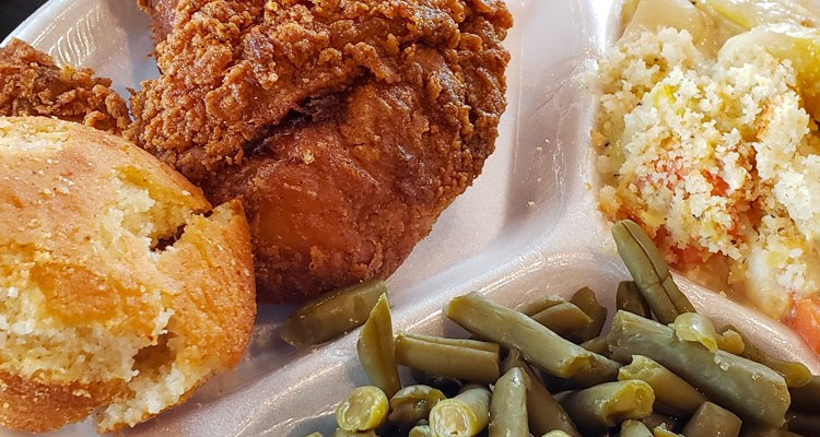 Fried Chicken Dinner Bishops Meat and Three | Naturally Stellar