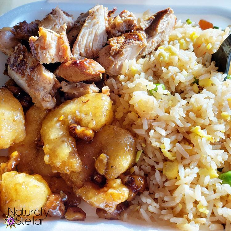 Panda Express Honey Walnut Shrimp, Fried Rice and Teriyaki Chicken | Naturally Stellar