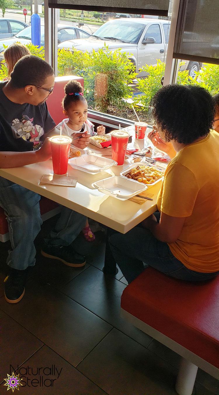 Panda Express Family Eating | Naturally Stellar