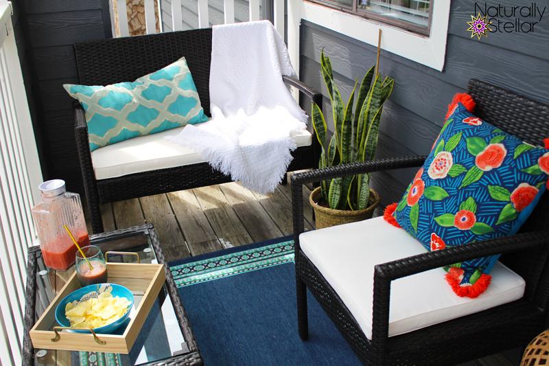 Dark rattan conversation patio set by wayfair