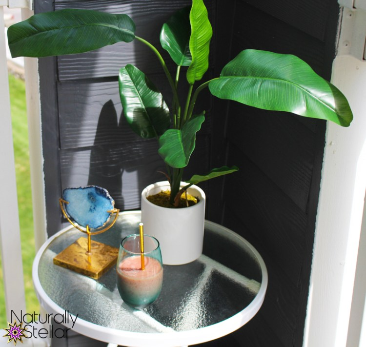 Outdoor faux banana plant is perfect for my balcony