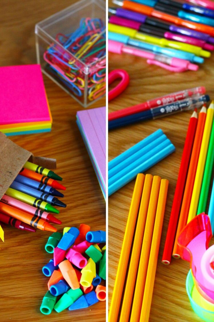 School Supply Centerpieces Tutorial | Naturally Stellar
