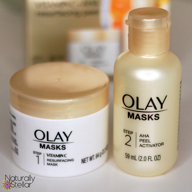 Olay AHA Skin Peel for skin resurfacing. Naturally Stellar