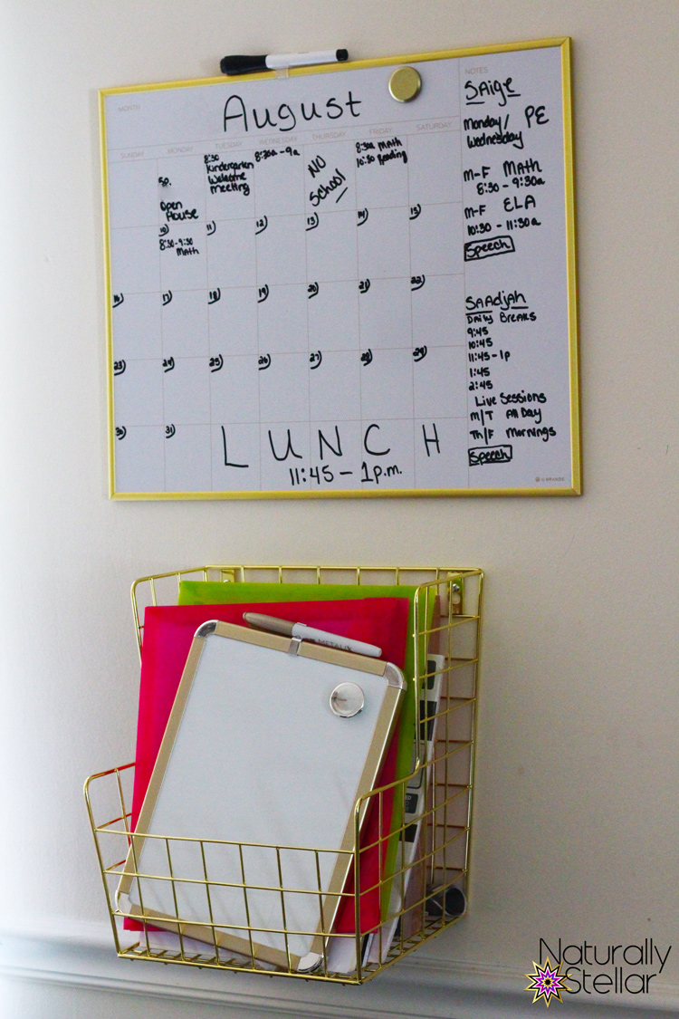 Virtual school organization - magnetic dry erase calendars | Naturally Stellar