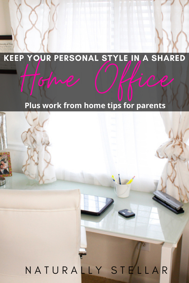 Shared home office with furnishing from Wayfair | Naturally Stellar