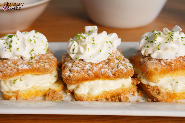 Key lime shortcakes on platter | Naturally Stellar