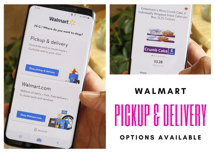 Walmart grocery pickup and delivery options with the Walmart app | Naturally Stellar