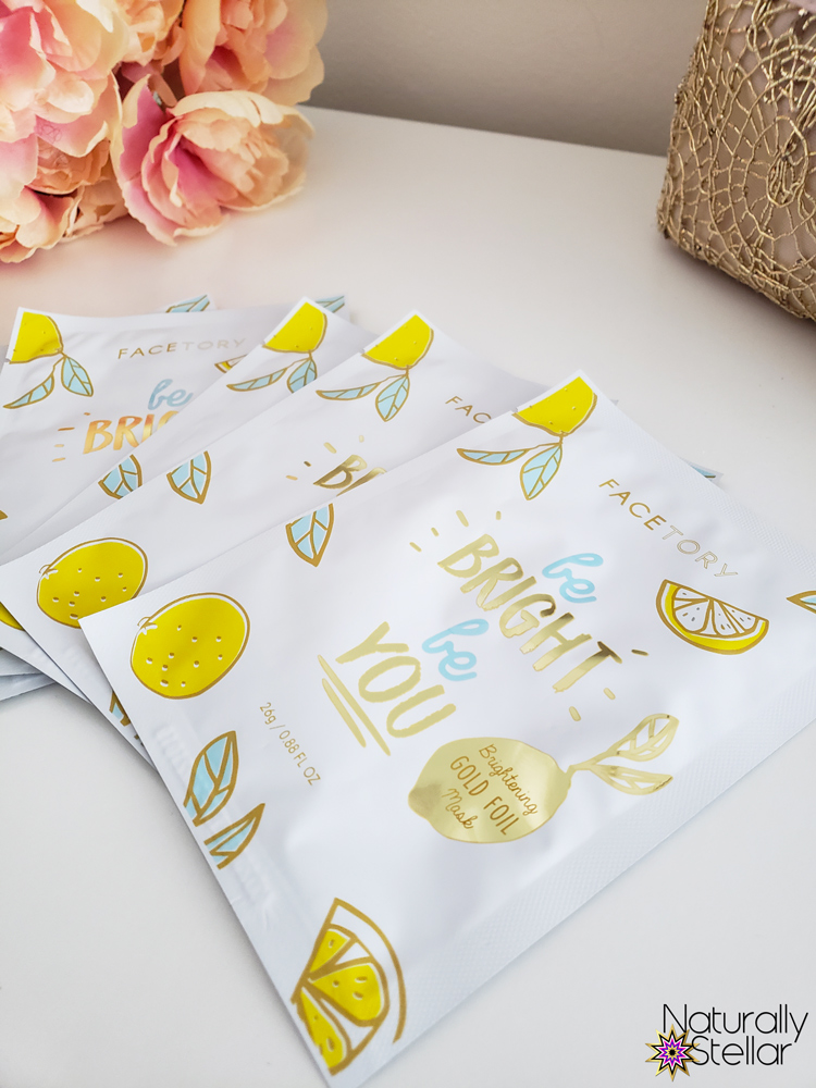 FaceTory 5 pack Be Bright Be You sheet masks | Naturally Stellar