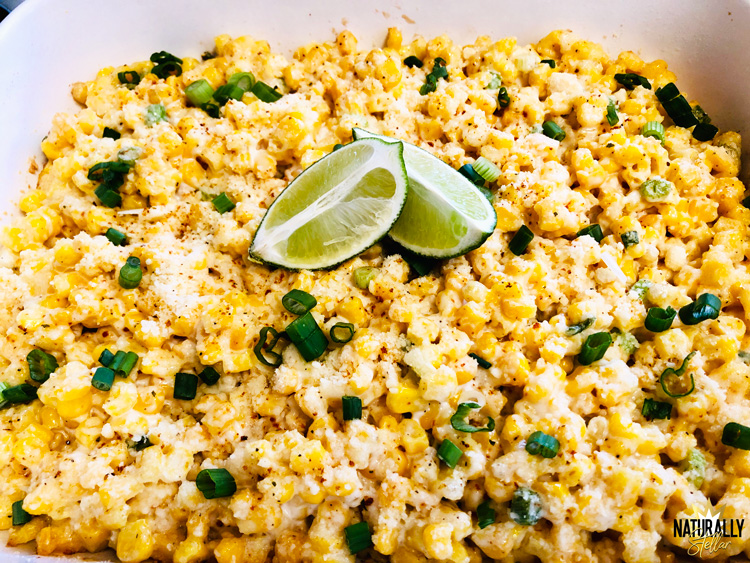 This delicious street corn bake makes the perfect weeknight side dish or meatless casserole | Naturally Stellar