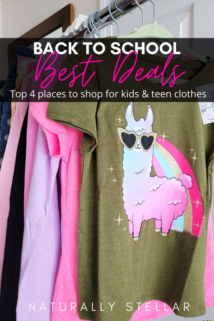 Here are the top 4 retailers to seek out for your back to school clothes shopping needs   Naturally Stellar