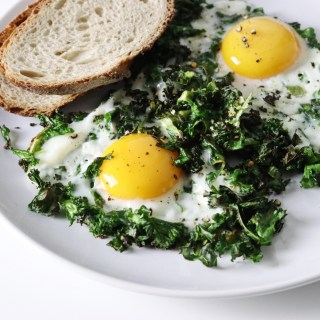 Healthy Kale Sunny Side Up