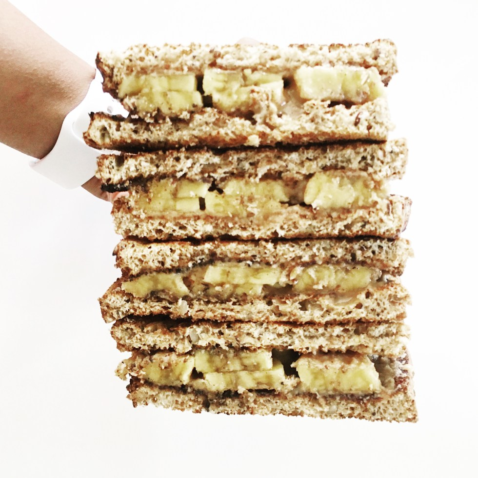 Almond Butter Banana Sandwich