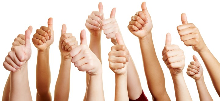 Testimonials and kind words from clients of Naturally. . . You are represented by this photo of thumbs up!