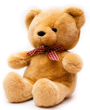 A teddy bear to symbolize sleep.