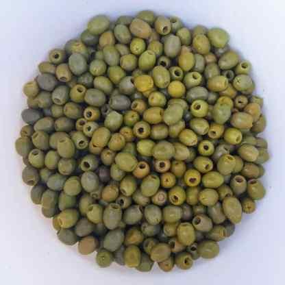 Зелені оливки без кісточки в морській солі 2.6кг калибр Jumbo 181-200 70345