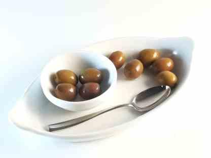 Натуральные бури маслины Амфисис с косточкой в морській солі ПЕТ-пакетик 1.8кг Large 231-260 70373