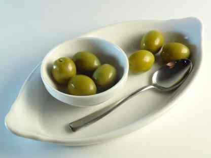 Зелені оливки з кісточкою в морській солі ПЕТ-пакетик 1.8 кг калибр Giants 141-160 70573