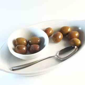 Натуральные бури маслины Амфисис с косточкой в морській солі ПЕТ-пакетик 3 кг Jumbo 181-200 70365