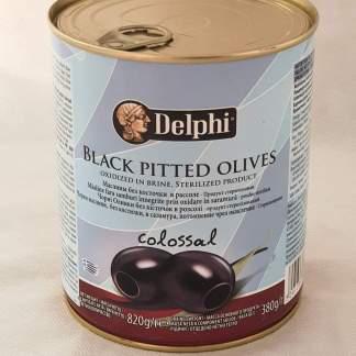 DELPHI Чорні маслини Колоссаль 121/140 без кісточок Л.О.850ml 51009