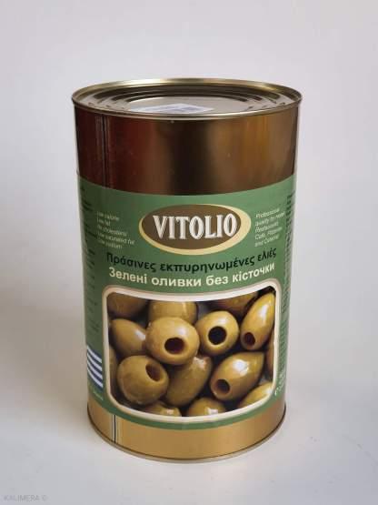 VITOLIO Зелені Оливки без кісточки S.S. Mammoth 70-90, 4.65кг/с.в.2kg 51513