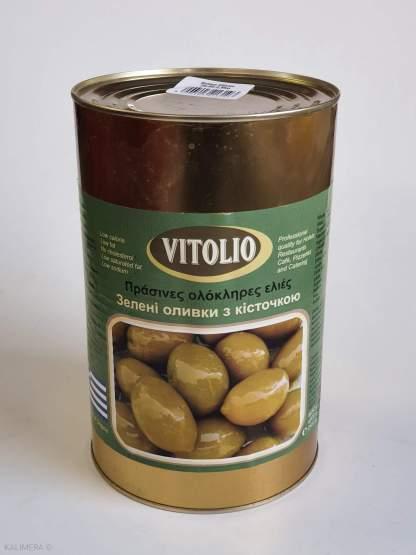 51064 VITOLIO Зелені оливки з/к Атлас 70/90 4,6 кг суха вага 2,5 кг
