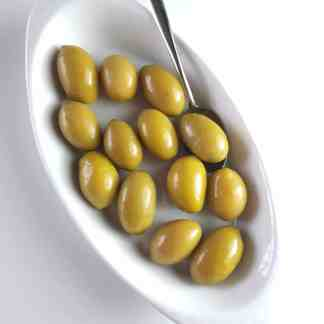 Дамаскино Зелені оливки з кісточкою в морській солі ПЕТ-пакетик 3кг калибр 101 -110 Mammoth