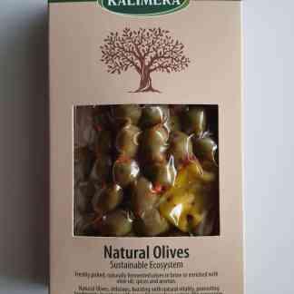 """Мікс оливок та перчиків у пікантному маринаді """"Валенсія"""" в оливковій олії, лимонному соці, розсолі та іспанські спеції 280г в.н., 250г в.суха, Вакуумний пакет у картонній коробці"""