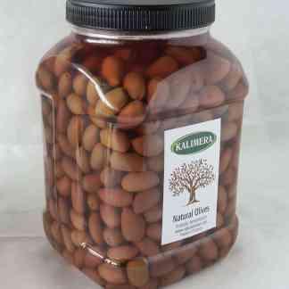 Каламатас молоді оливкис з кісточкою в морській солі 3л ПЭТ-банка 1.9кг с.в. калибр Fine 321-350