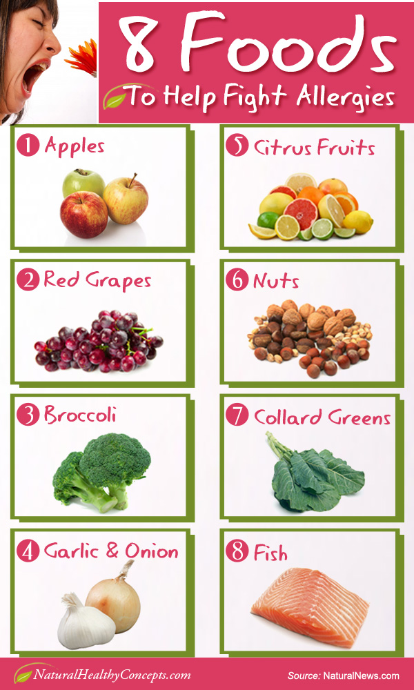 Credit: 8 Foods to Help Fight Allergies [INFOGRAPHIC] by ...