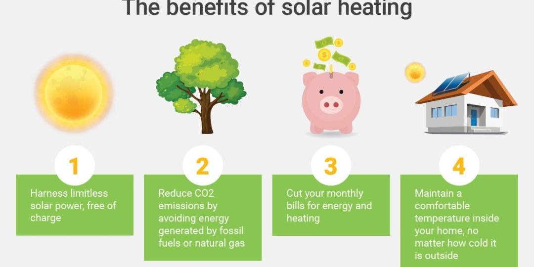 Benefits of a solar heating system