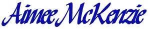 Aimee McKenzie signature