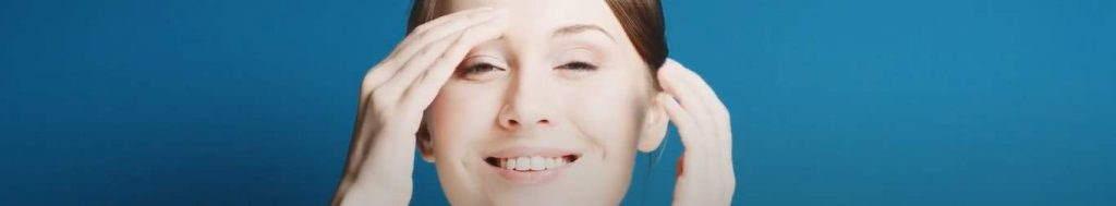Natural skin care applying skin care cream