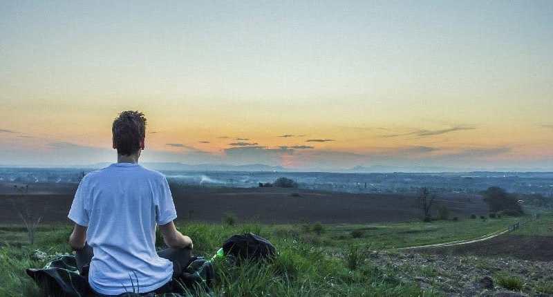 Man meditating for Mindfulness Therapy meditation Attachment Developmental Disorder
