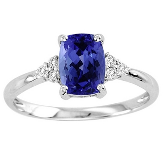 Cushion Tanzanite Ring