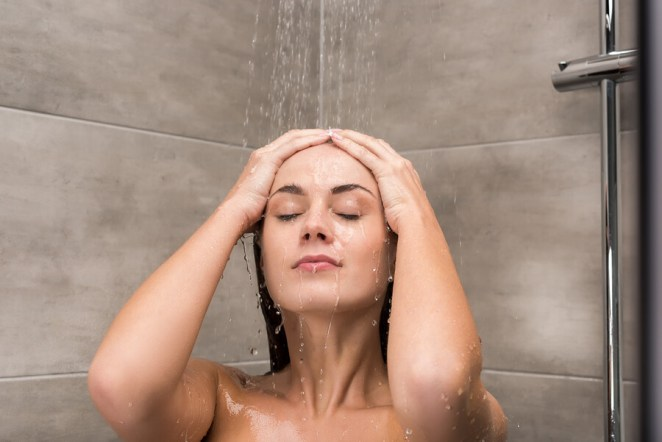 Woman Taking Shower