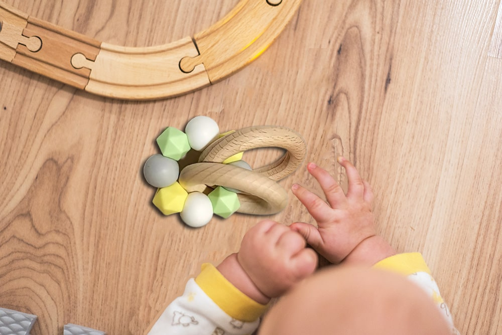 how to treat wooden teething rings ( No paints or chemicals )