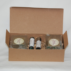 chocolate, yucca, gift box, natural, soap, lip balm,