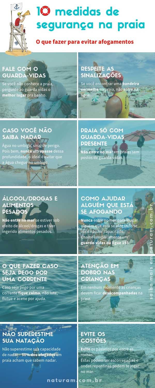 10 medidas de segurança na praia - infográfico img