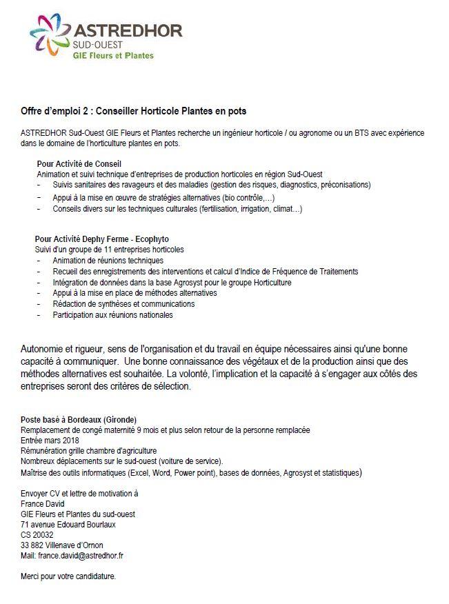 Offres DEmploi  Eplefpa Naturapolis De Chteauroux