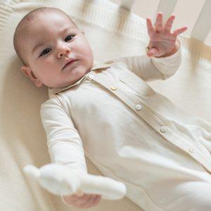Striped Cloth Babygrow